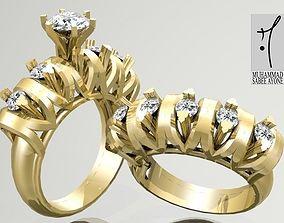 Gold Ring 3D print model ring