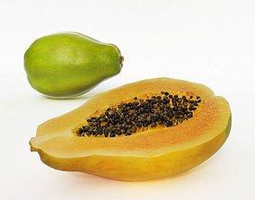 Exotic Fruit Papaya 3D model