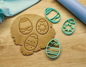 3D printable model Eastrer eggs cookie cutter
