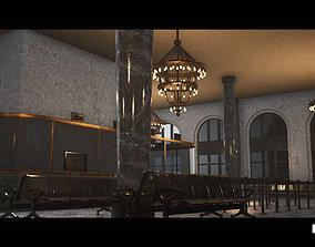 3D asset Bank Building Interior Gameready Environment