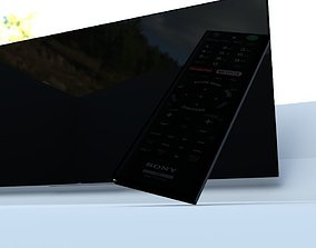 3D model Sony Tv and remote