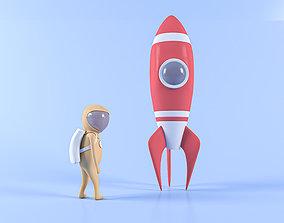 Space Stylized 3D model