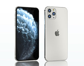 electronics iPhone 11 pro max silver 3D