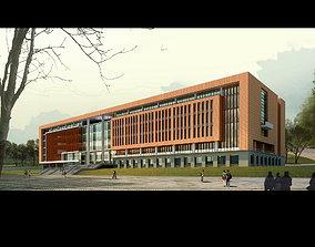 3D model Exquisite Office Building Design