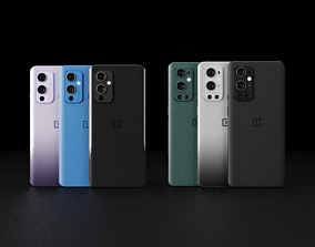 OnePlus 9 and 9 Pro in All Official Colors 3D model