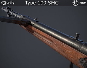 Type 100 Submachine Gun 3D model