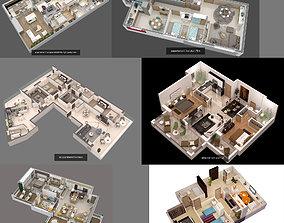 concept 3D model floorplans collection