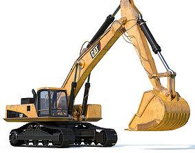 Cat excavator 3D model