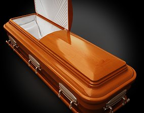 High Def Classic Coffin Wood Modern 3D model