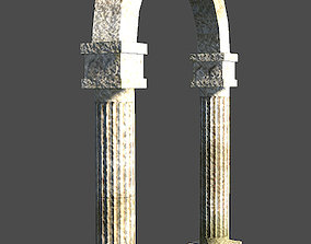 3D asset Derelict Archway