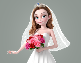 3D model Cartoon Bride Rigged