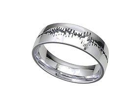 Men Wedding Band Heart Bit Wave Model- CC93