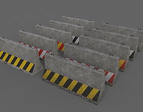 PBR Concrete Barrier V3 3D model