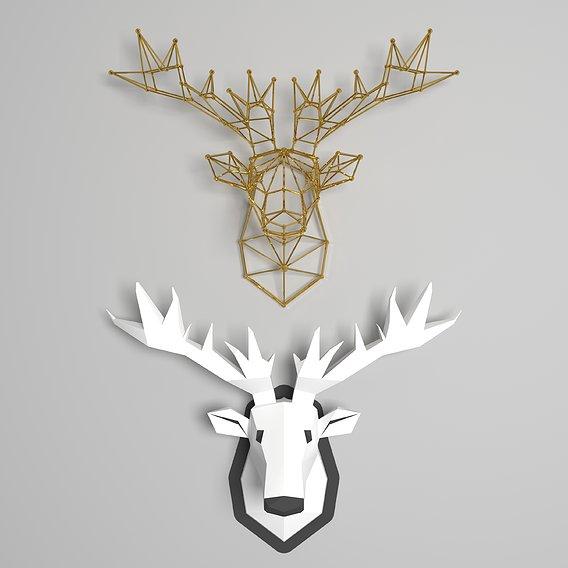 moose head - wal-mounted
