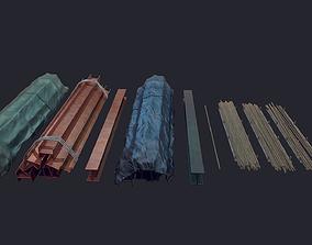 3D model Industrial metal Beam