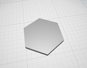 Hexagon Shape 3D asset