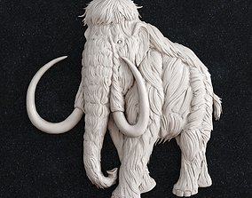 3D printable model elephant gold mammoth