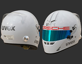 3D model Helmet UVEX FP5 white