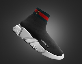 3D balenciaga trainers gucci shoes