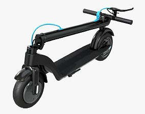 3D model Scooter electric 01 folded