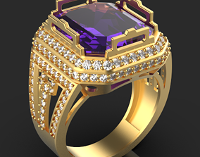 3D printable model Emerald ring jewel