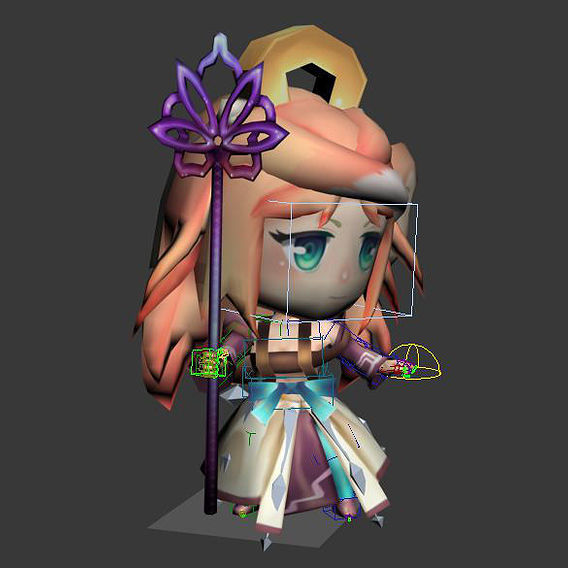 Lowpoly Cleric