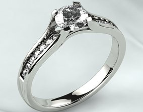 5mm Gemstone Gold Ring 3D printable model printable