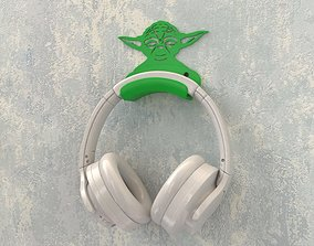 3D print model Headphone bracket Yoda style