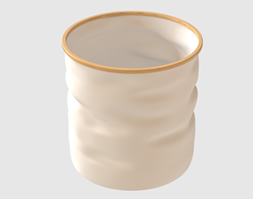 Round Collapsible Basket 3D asset VR / AR ready