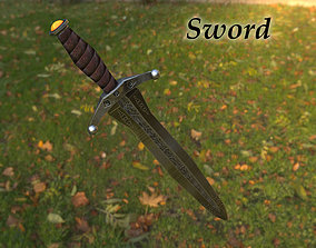 Sword 3D asset realtime knight medieval