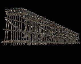 3D asset Wood Trestle 2 Lod