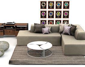 Studio Livingroom Set L471 3D model