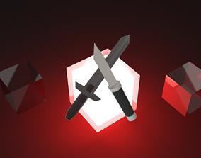 3D sword set