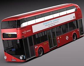 3D model London bus LT2 LT61 BHT Arriva