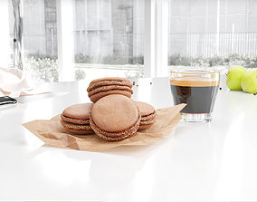 Macarons dessert 3D