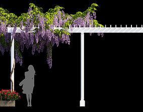 3D model wisterial tree plant