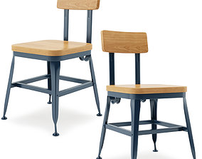 3D model Vintage Lyon Powder coated Dining Chair