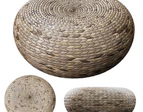 Rattan pouf 3D model