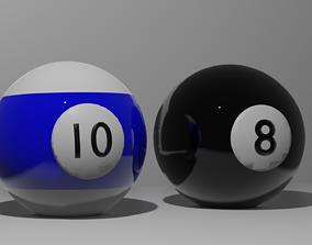 3D model Billar balls