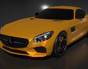 3D asset Mercedes AMG GT S