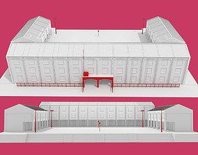 School building environment 3D model or public - 1