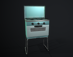 3D asset low-poly Cooker