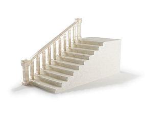 3D model White Stone Railing