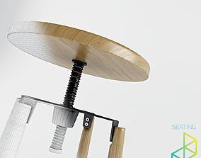 Vitone barstool 3D model