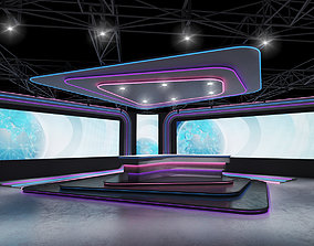 3D asset tv studio