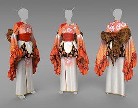 3D Kimono model made in Marvelous Designer