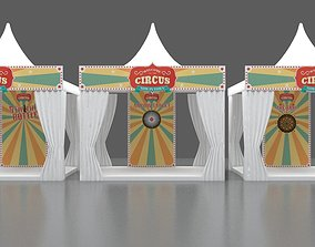 Booth Game Carnival 3x3M 3D