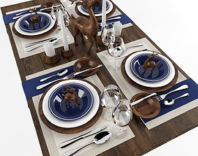 3D model Table serving 4