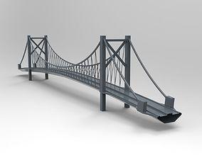 3D roadway Suspension Bridge - printable