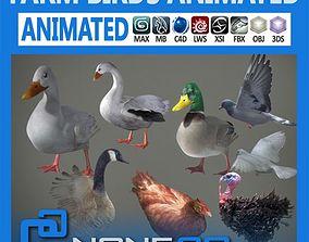 Pack - Farm Birds Animated 3D